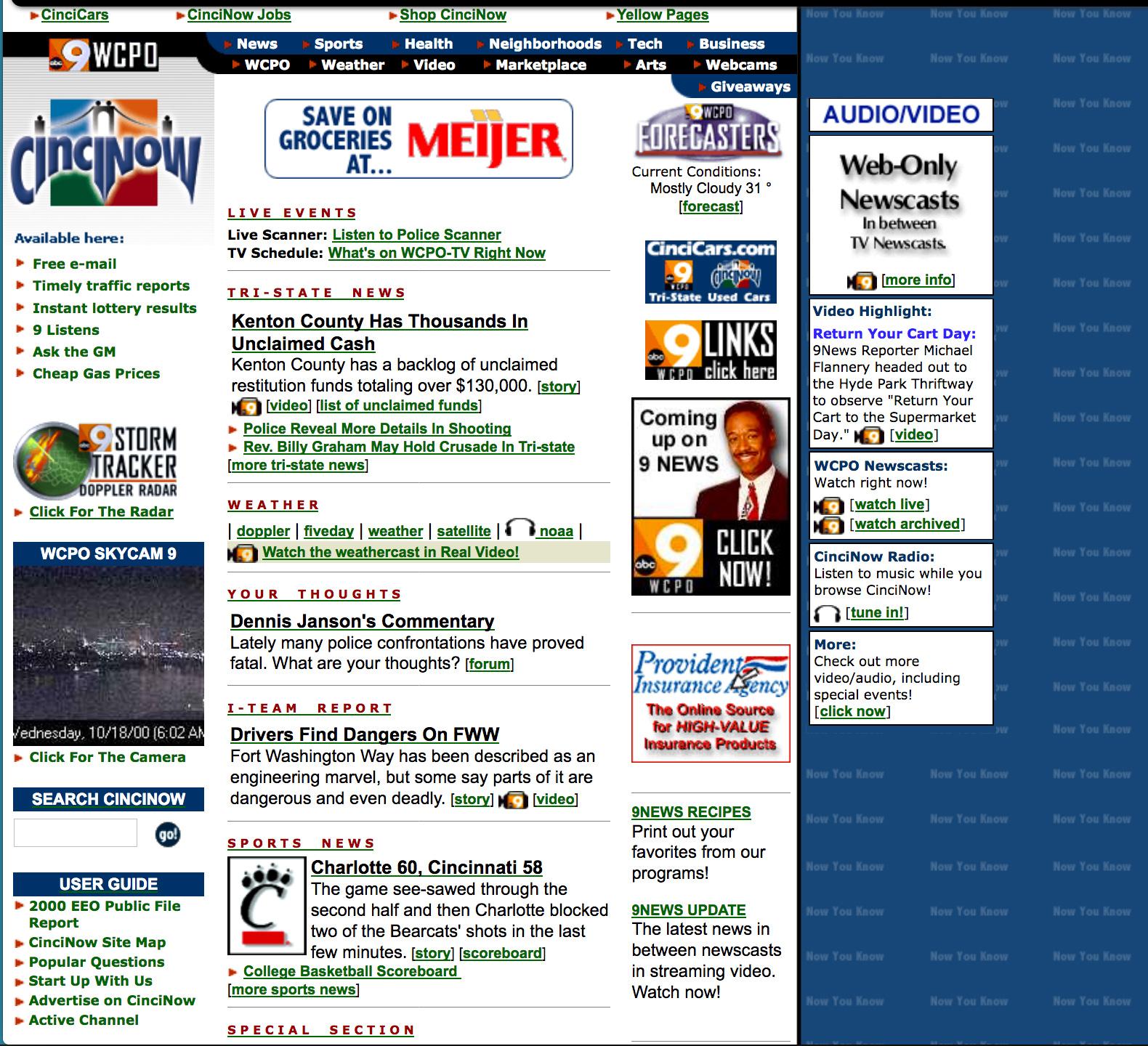CinciNow homepage screenshot